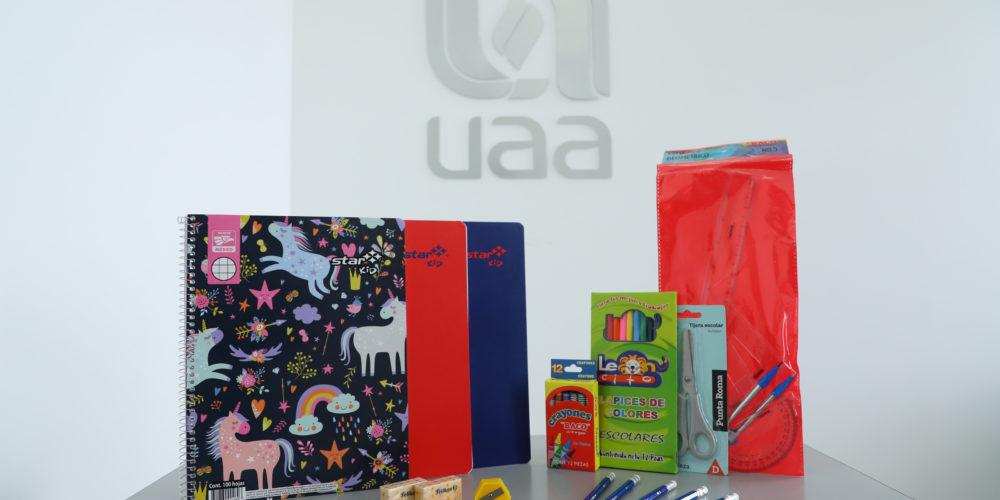 Invita UAA a campaña de donación de útiles escolares