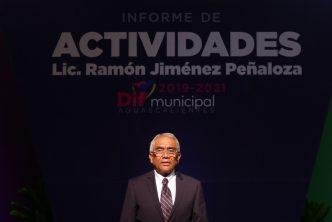 Ramón Jiménez presenta logros y resultados al frente del DIF municipal