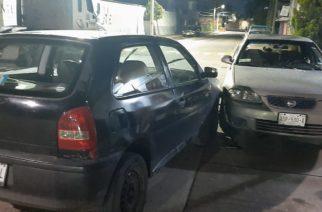 Ebrio impactó a un vehículo estacionado