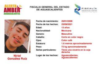 Buscan a menor de 13 años extraviado en Aguascalientes