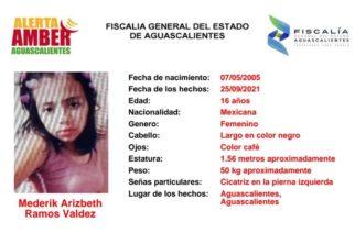 Se busca a Arizbeth Ramos, reportada como desaparecida en Aguascalientes
