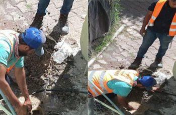 Denuncian a personal de Veolia por cortes de agua en Pilar Blanco