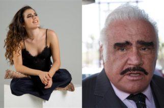 Camila Fernández rompe en llanto al hablar sobre la salud de Vicente Fernández