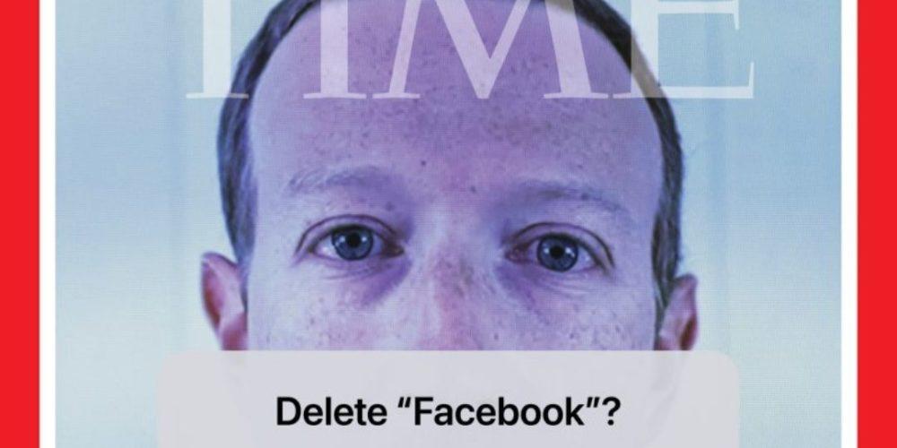 """Revista Time pide """"borrar"""" Facebook en portada con Mark Zuckerberg"""