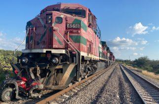 Tren arrolla y mata a ocupante de cuatrimoto en Coyotes, Aguascalientes