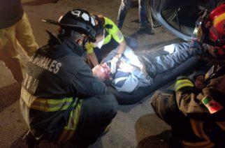 Volcadura a la salida a Zacatecas deja un lesionado