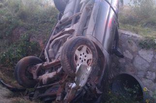Volcadura deja saldo de 2 heridos en Aguascalientes