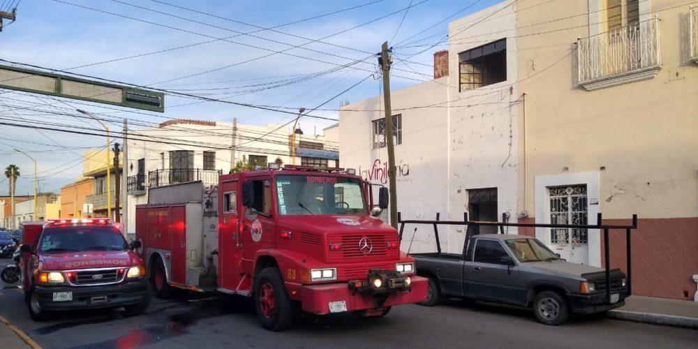 Sujeto drogado provoca incendio en  vivienda en la zona centro de la ciudad