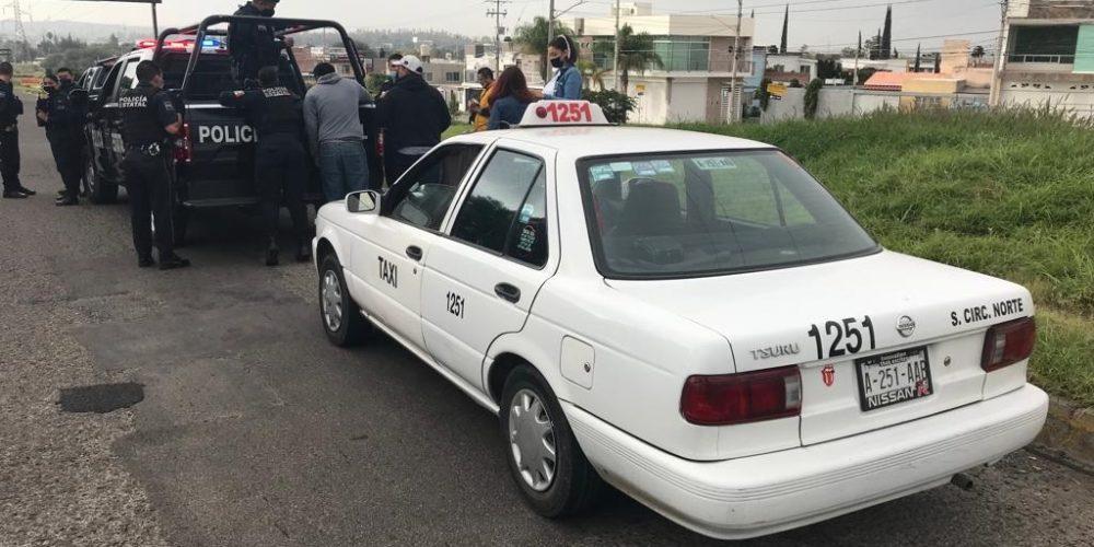 Tras persecución, capturan a asaltataxistas en Aguascalientes