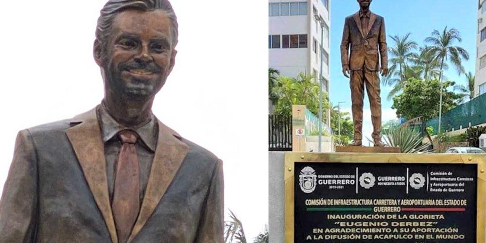 Retiran estatua de Eugenio Derbez en Acapulco. No duró ni una semana