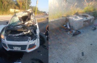 Veloz conductor se accidenta y queda gravemente herido sobre Av. Siglo XXI