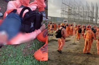 (VIDEOS)Reportan 4 heridos tras protesta y enfrentamientos en refinería Dos Bocas