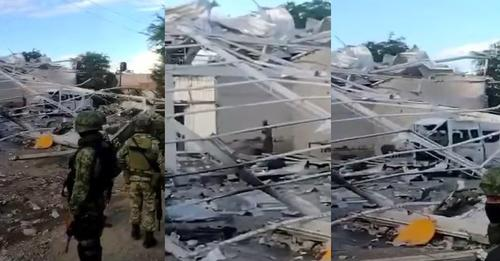 Explotan drones con explosivos almacenados en narcobodega de Tepalcatepec