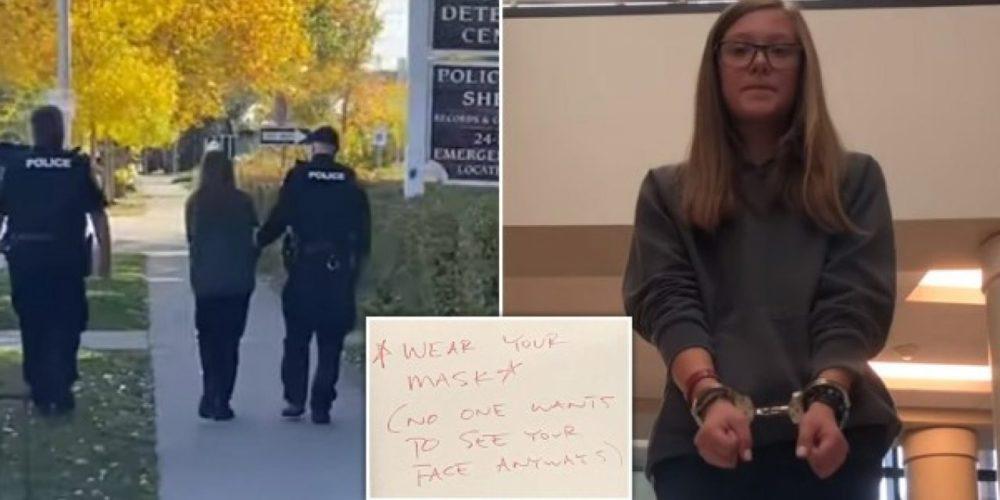 Arrestan a joven de 16 años por no usar cubrebocas en la escuela