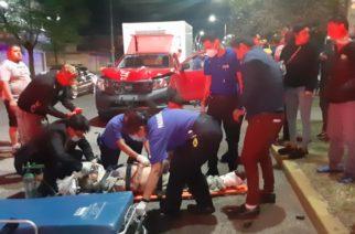Desigual choque entre una camioneta y una bicicleta deja un herido