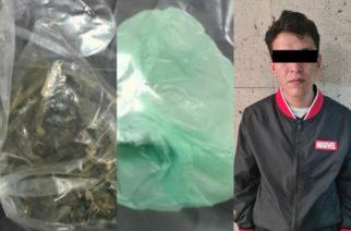 Con droga crystal y marihuana, fue detenido presunto distribuidor en Aguascalientes